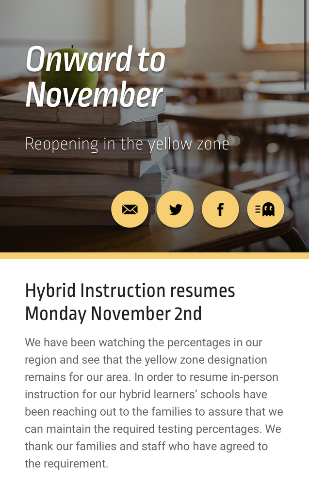 Resuming Hybrid Instruction