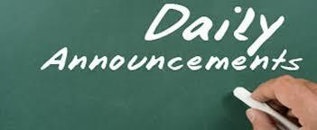 Daily Announcements 2/28/19