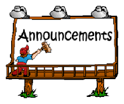 Daily Announcements 3.6.19