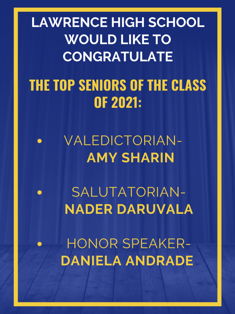 LHS Congratulates Top Seniors of the Class of 2021