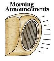 Daily Announcements 4.8.19