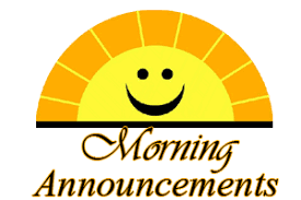Daily Announcements 4.12.19