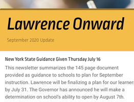 Lawrence Onward Update