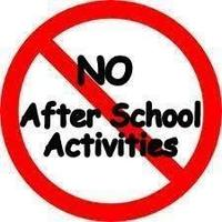 After School Activities Cancelled- 2/12/19