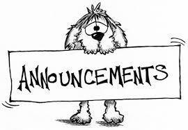 Daily Announcements 4.11.19