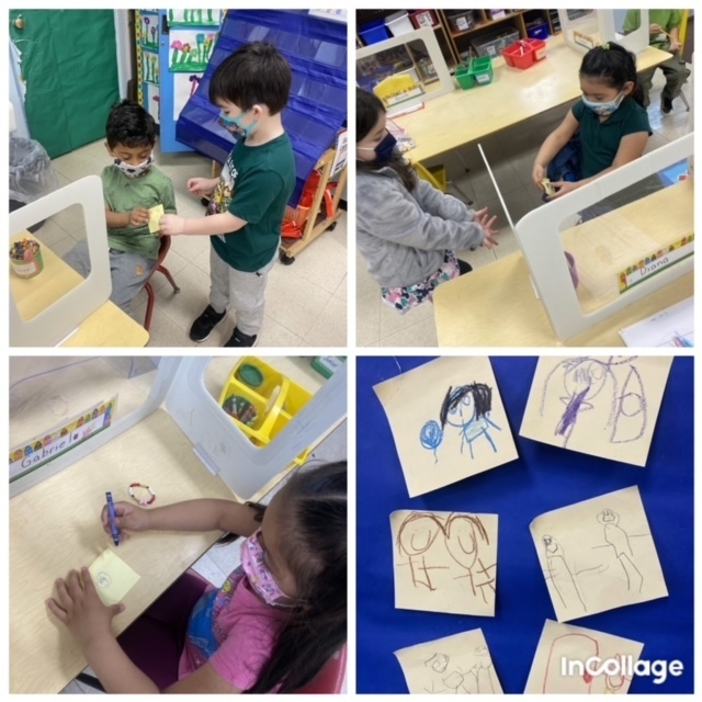 Drawing pictures of kindness