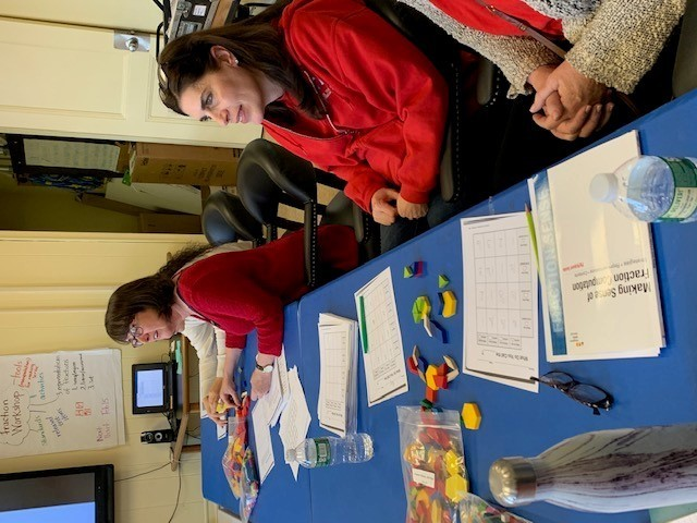 Fourth grade teachers use manipulatives
