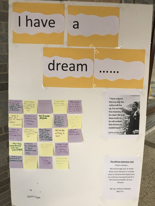 Students began posting their dreams in the front lobby at LHS