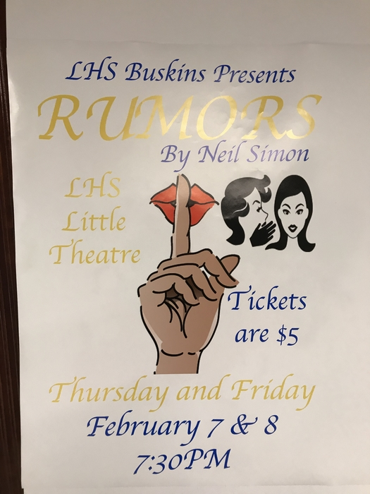 Come join us for LHS's Buskins show!!