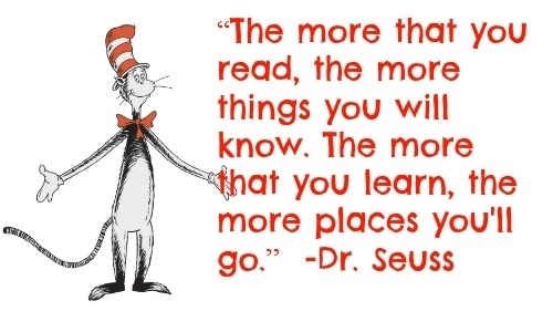 In honor of Dr. Seuss' upcoming birthday...