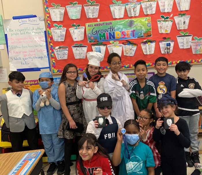 Mrs. Kahn's class dresses for success
