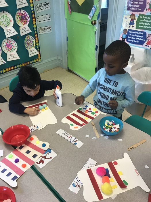 Creating Dr. Seuss pattern hats