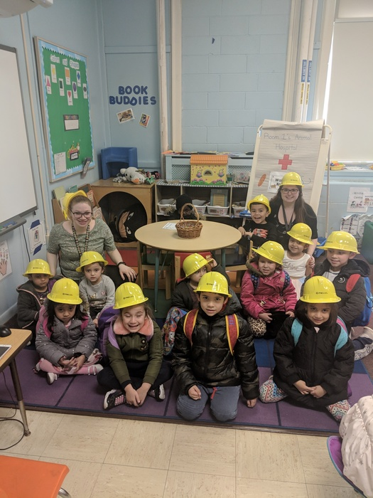 Wearing our safety hats