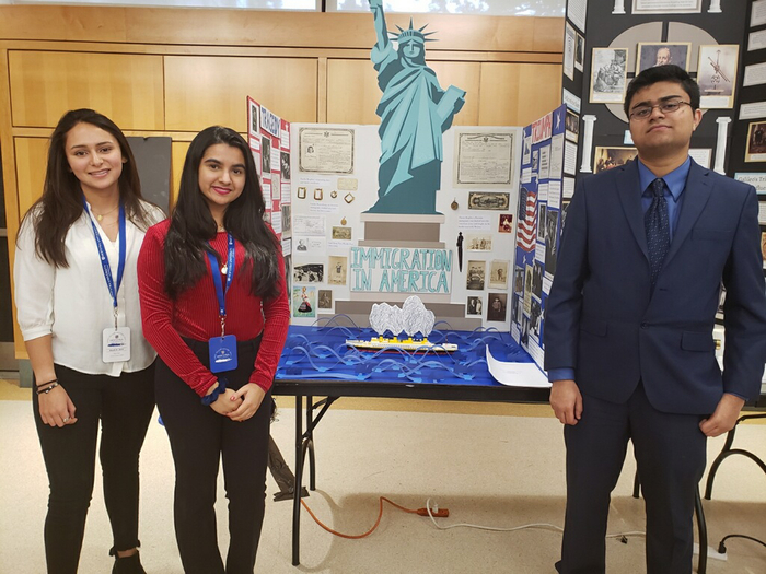 Congratulations Mia Feder, Anoushka Guha and Amil Virani for their National History Day project.