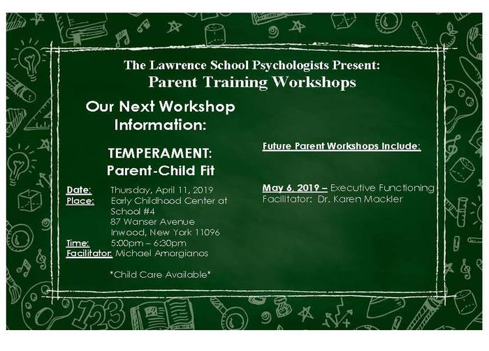 Parent Workshop - English