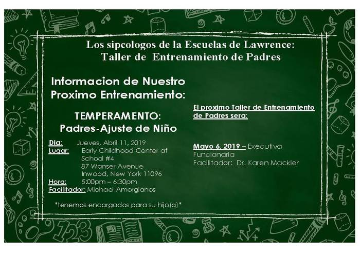 Parent Workshop - Spanish