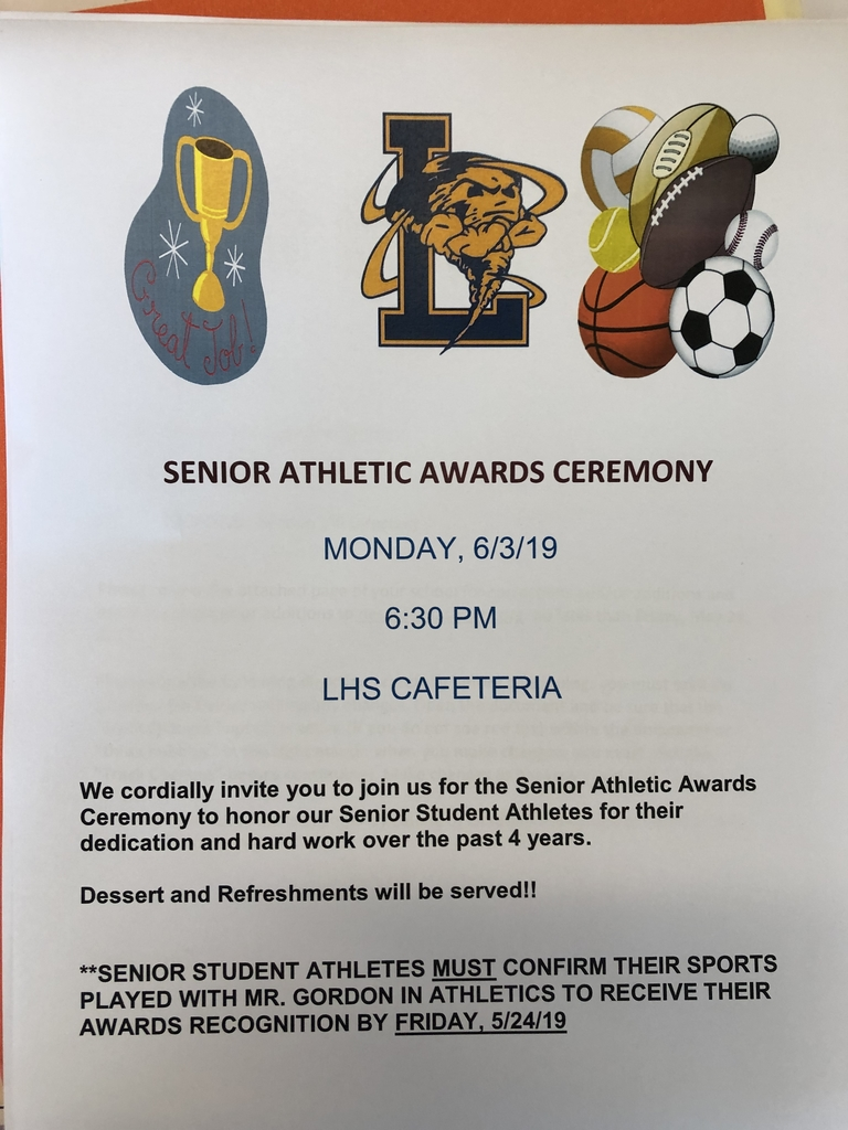 Senior Athletic Awards Dinner