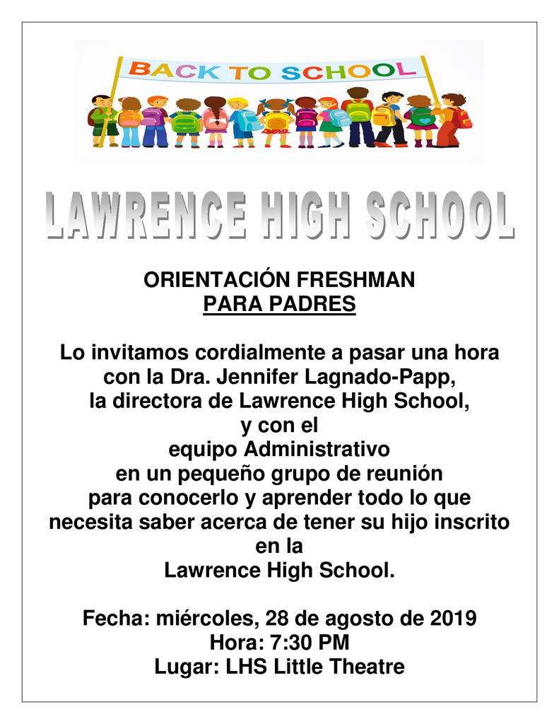 fresh parent orientation spanish