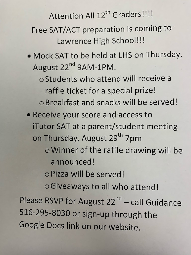 12th Grade SAT Prep Flyer