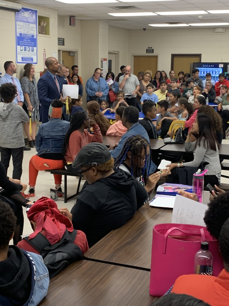 Principal Perry greets parents during Back to School Night on 9/19/19