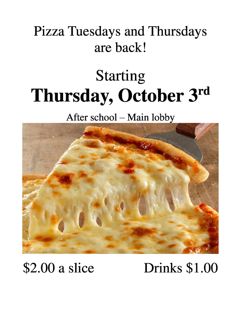 PTA Pizza Flyer