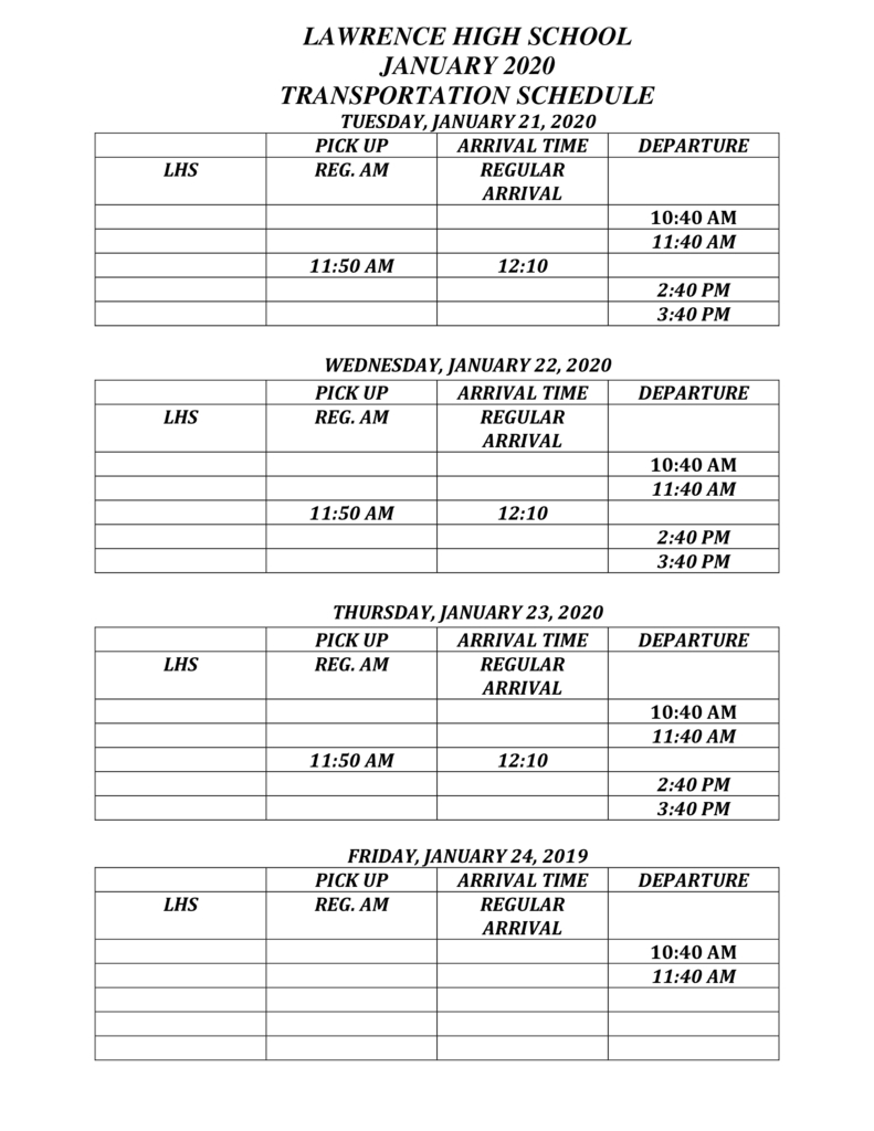 bus sched