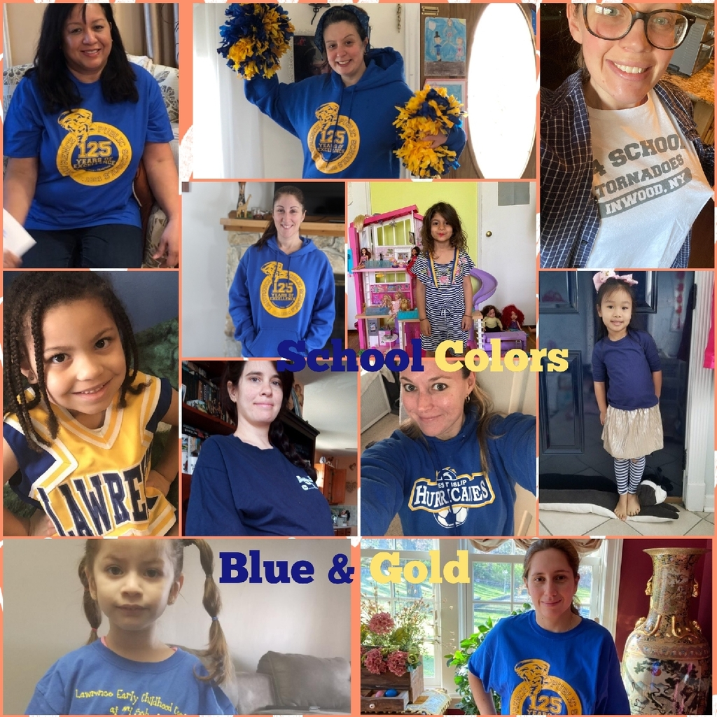 blue and gold school colors