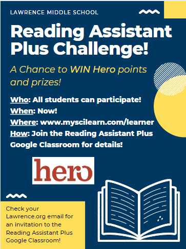 Reading Assistant Plus Challenge flyer