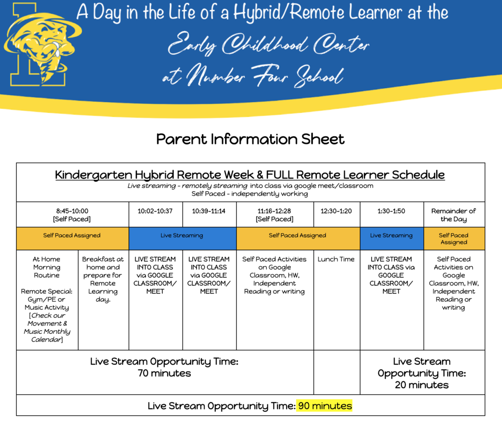parent info sheet